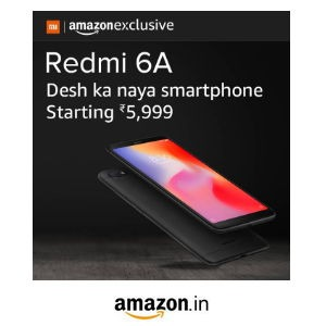 Redmi 6A - Sale Today @ 12PM